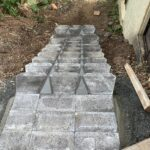 Steps before work by Keppel Coast Paving