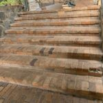 Old steps worked on by Keppel Coast Paving