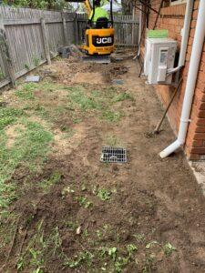 Preparing ground for pathway